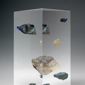L Glass Bin
